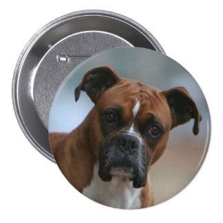 Boxer dog Photo Round Button