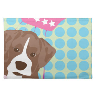 boxer dog placemat