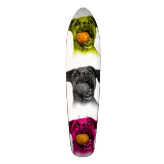 boxer dog pop art 8173 wb skateboard
