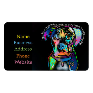 Boxer Dog Pop Art Style for Dog Lovers Business Card