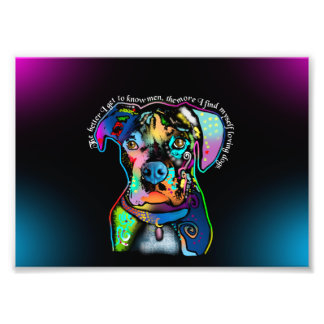 Boxer Dog Pop Art Style for Dog Lovers Photo Print