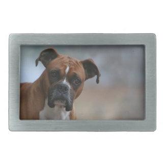 Boxer dog Portrait Belt Buckle