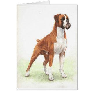 Boxer Dog Portrait Blank Greeting Card