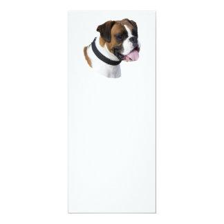 Boxer dog portrait photo 4x9.25 paper invitation card