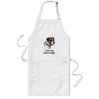 Boxer dog portrait photo long apron