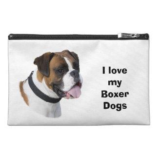 Boxer dog portrait photo travel accessories bags