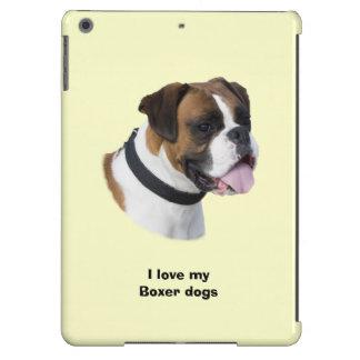 Boxer dog portrait photo iPad air case