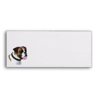 Boxer dog portrait photo envelope