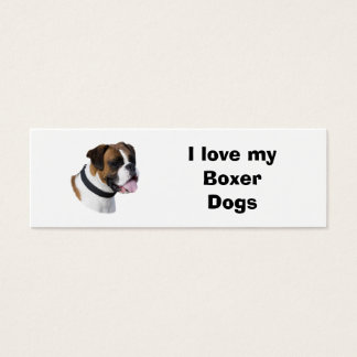Boxer dog portrait photo mini business card