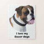 Boxer dog portrait photo puzzle