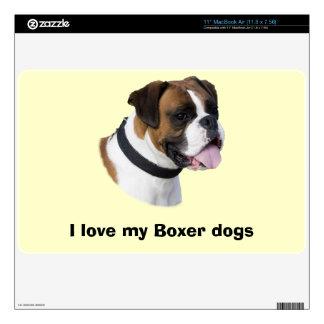 Boxer dog portrait photo skins for MacBook air