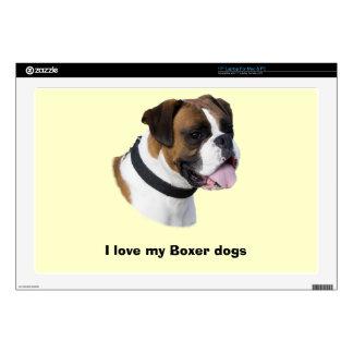 "Boxer dog portrait photo skin for 17"" laptop"
