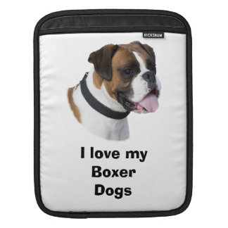 Boxer dog portrait photo sleeves for iPads