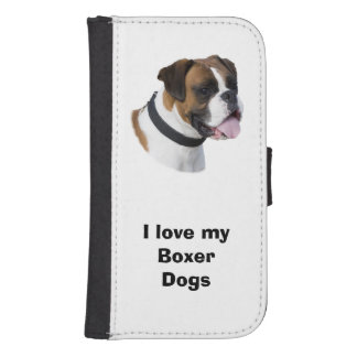 Boxer dog portrait photo wallet phone case for samsung galaxy s4