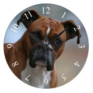 Boxer dog Portrait Round Wall Clock