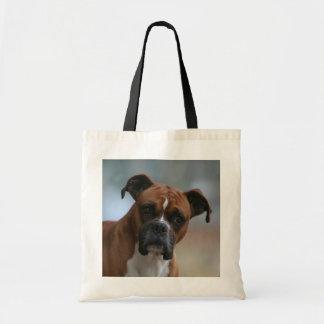 Boxer dog Portrait Tote Bag