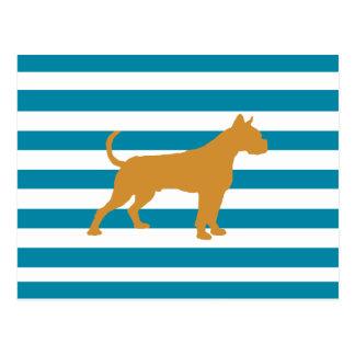 boxer (dog) postcard