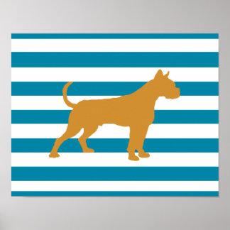 boxer (dog) poster