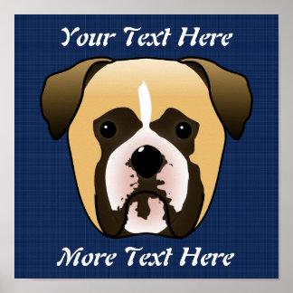 Boxer Dog Poster