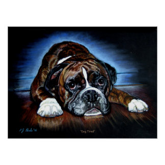 Boxer Dog print poster