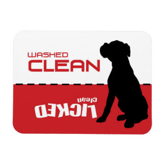Boxer Dog, Puppy Dishwasher Magnet - Licked Clean