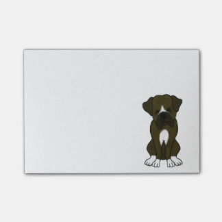 Boxer Dog Puppy Post-it Notes