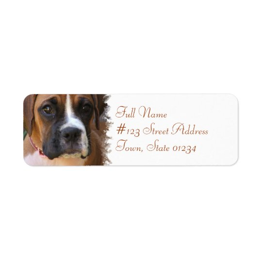 boxer dog return address label zazzle com