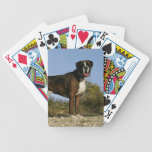 Boxer Dog Show Stance Bicycle Playing Cards