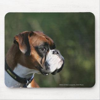 Boxer Dog Side Profile Mouse Pad