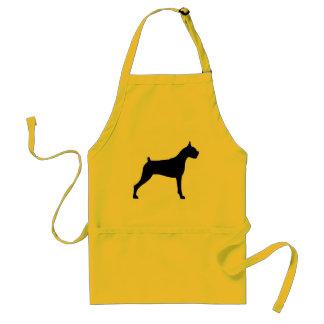 Boxer Dog Silhouette Adult Apron