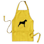 Boxer Dog Silhouette Aprons