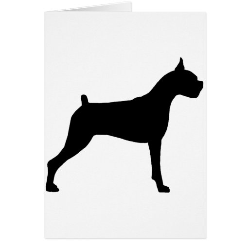 Boxer Dog Silhouette Card