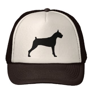 Boxer Dog Silhouette Hat