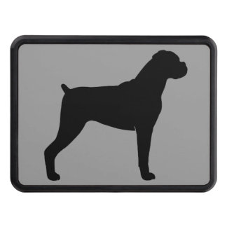 Boxer Dog Silhouette Hitch Cover