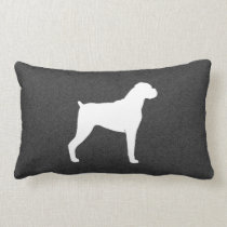 Boxer Dog Silhouette Lumbar Pillow