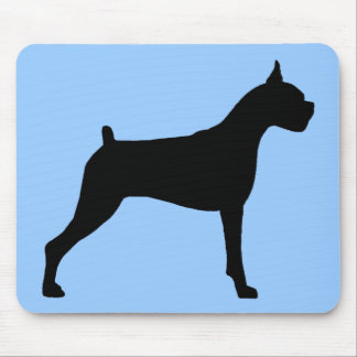 Boxer Dog Silhouette Mouse Mat