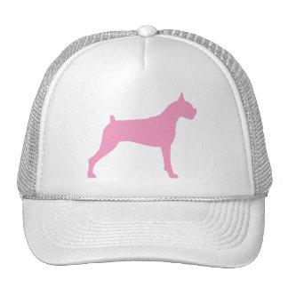 Boxer Dog Silhouette (pink) Trucker Hat