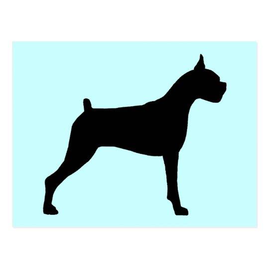 Boxer Dog Silhouette Postcard