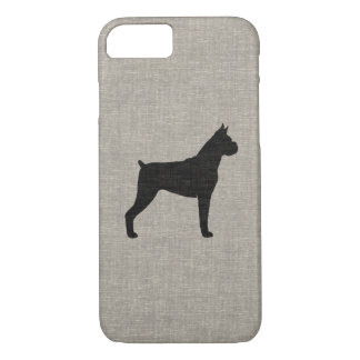 Boxer Dog Silhouette with Cropped Ears iPhone 8/7 Case