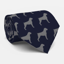 Boxer Dog Silhouettes Pattern Tie