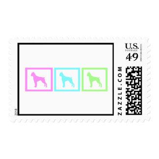 Boxer dog  Squares Postage
