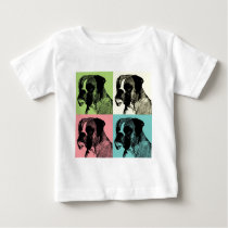 Boxer Dog Stamper Pop Art Baby T-Shirt