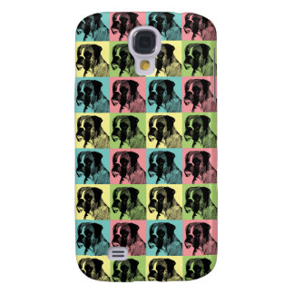 Boxer Dog Stamper Pop Art Galaxy S4 Cover
