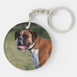 Boxer Dog Standing Keychain