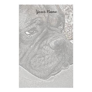 Boxer Dog stationary Stationery