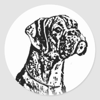 Boxer Dog stickers