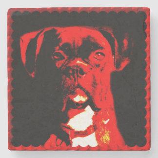 Boxer Dog Stone Coaster
