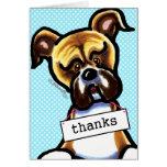 Boxer Dog Thank You Card