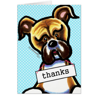 Boxer Dog Thank You Card