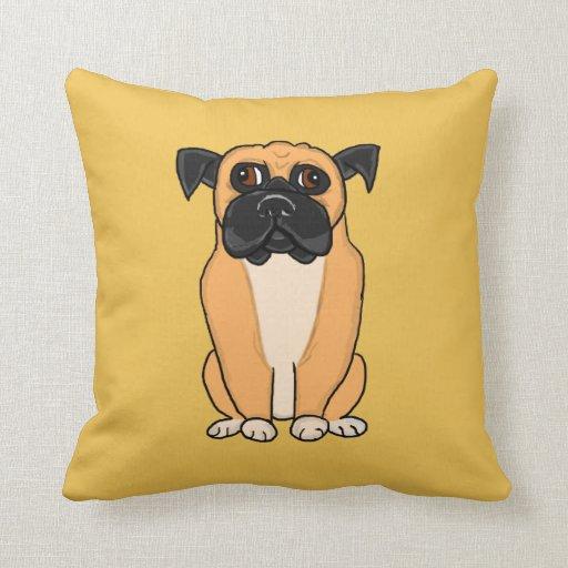 Doggy Throw Pillows : Boxer dog throw pillow Zazzle